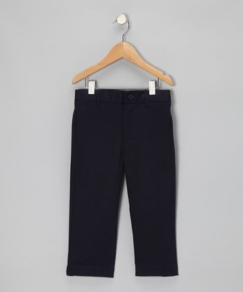 Navy Twill Pants - Boys