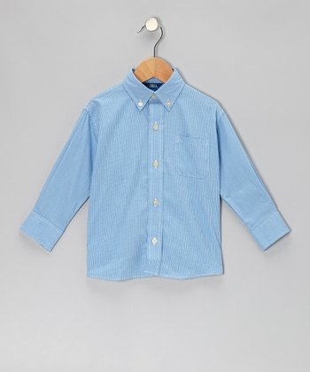 Royal Windowpane Button-Up - Infant, Toddler & Boys