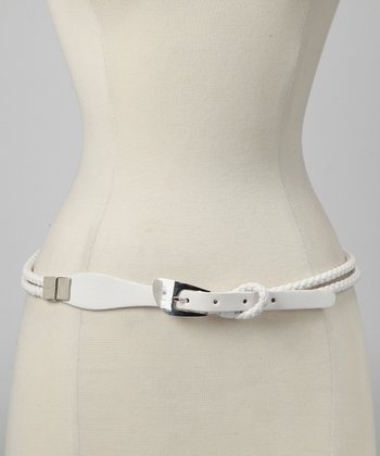White Double-Braided Rope Belt