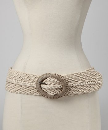 Natural Covered-Buckle Belt