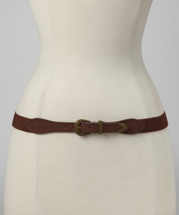 Brown Western Stretch Belt