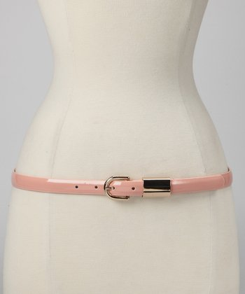Pale Pink Patent Belt