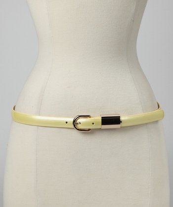 Pale Yellow Patent Belt
