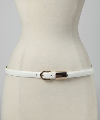 White Patent Belt