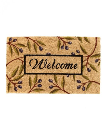 Olive Branch 'Welcome' Doormat