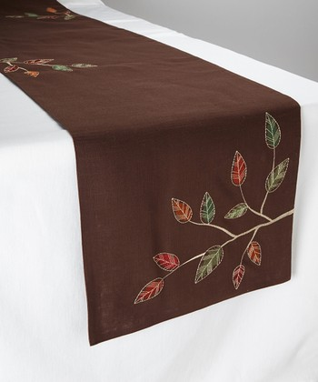 Leaves Autumn Woods Table Runner