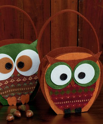 Owl Autumn Woods Felt Gift Bag Set