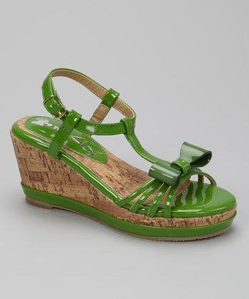 Green K-Bop Wedge Sandal