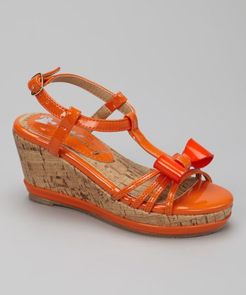 Orange K-Bop Wedge Sandal