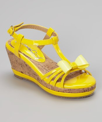 Yellow K-Bop Wedge Sandal
