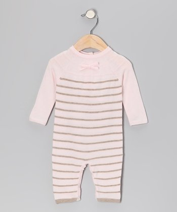 Baby Pink Stripe Playsuit - Infant