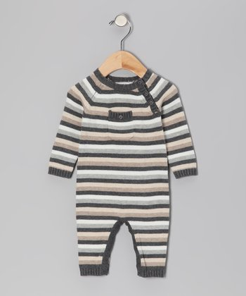 Charcoal Heather Brooklyn Stripe Playsuit