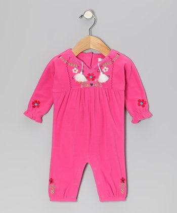 Dark Pink Bloom Natasha Playsuit - Infant