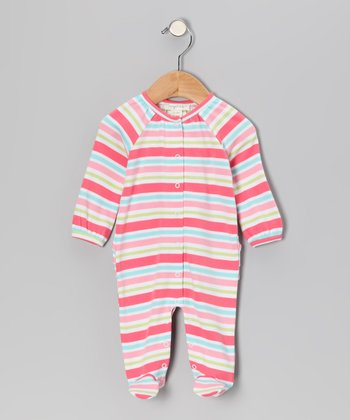 Pink & Light Blue Stripe Playsuit