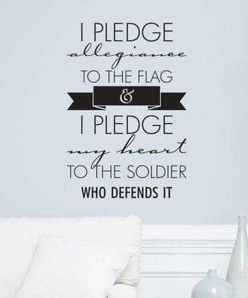 Black 'I Pledge' Wall Decal