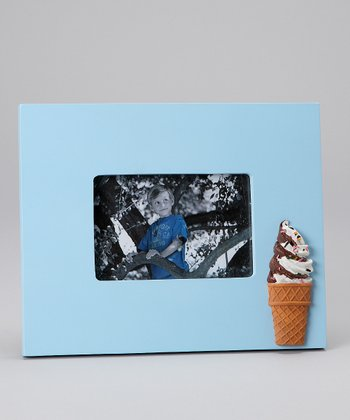 Concepts Blue Ice Cream Cone Picture Frame