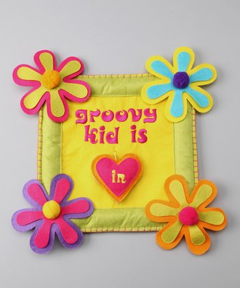 Groovy Holidays 'Groovy Kid is In/Out' Door Sign