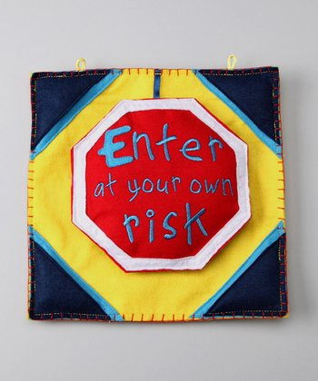 Groovy Holidays Enter at Your Own Risk Door Sign