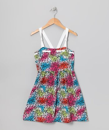 Rainbow Leopard Dress - Girls