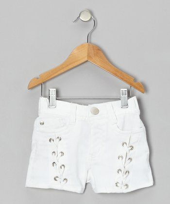 White Sails Lace-Up Shorts - Girls