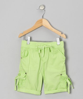 Pepper Lime Cargo Shorts - Girls