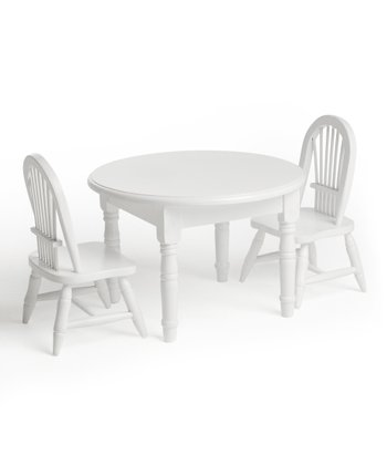 White Doll Table & Chair Set