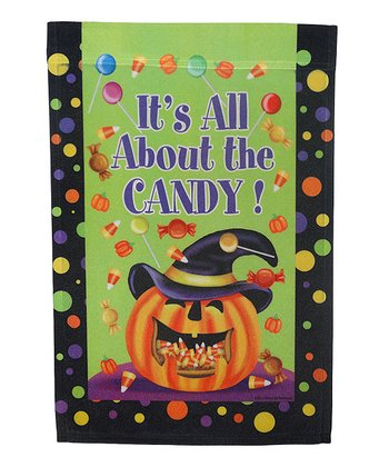 'It's All About the Candy' Halloween Flag