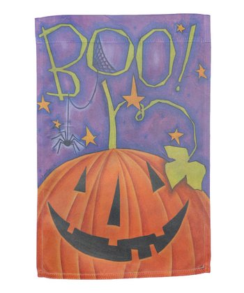 'Boo' Ghost Halloween Garden Flag