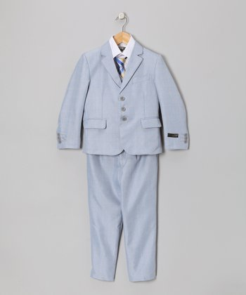 Light Blue Five-Piece Suit Set - Toddler & Boys