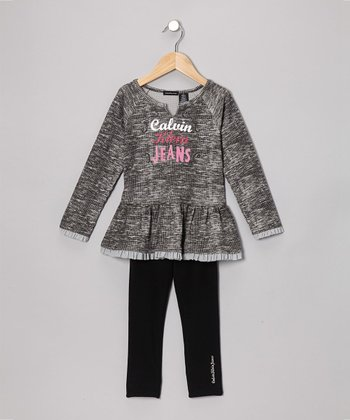 Heather Gray Thermal Tunic & Leggings - Infant, Toddler & Girls