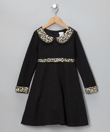 Black Cheetah Dress - Infant
