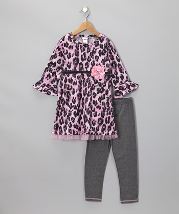 Pink Cheetah Tunic & Leggings - Toddler & Girls