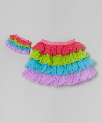 Rainbow Tiered Tutu & Doll Tutu - Girls