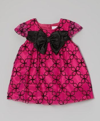 Pink Daisy Cap-Sleeve Dress - Infant