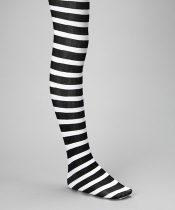 Black & White Stripe Emily Tights