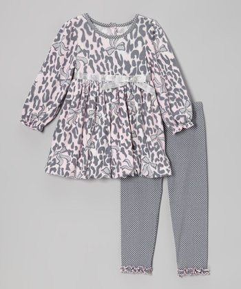 Pink & Gray Leopard Tunic & Leggings - Infant