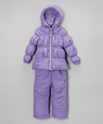 Lilac Puffer Coat & Bib Pants - Infant, Toddler & Girls