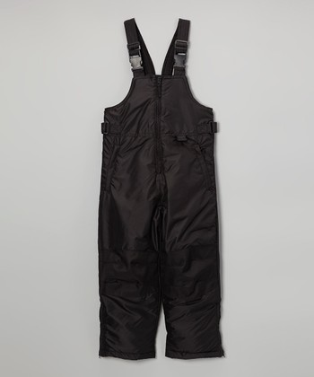 Black Classic Bib Pants - Toddler & Kids