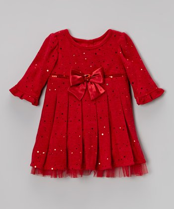 Red Bow Empire-Waist Dress - Infant