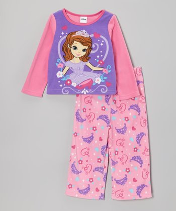 Pink Sofia the First Pajama Set - Toddler