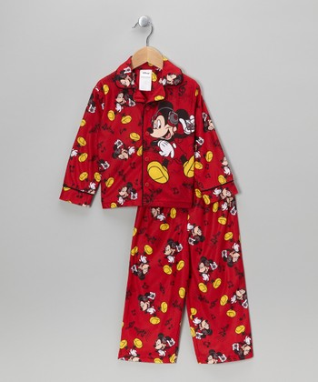Red Musical Mickey Pajama Set - Toddler
