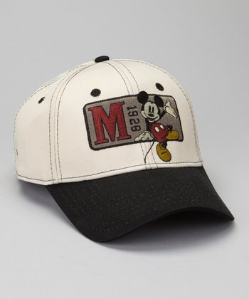 Black '1929' Mickey Mouse Baseball Cap - Boys