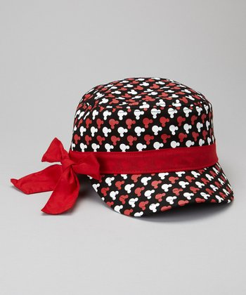 Red Mickey Mouse Military Cap