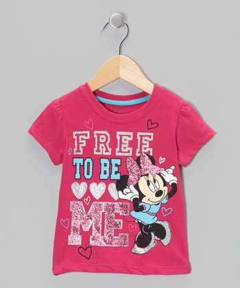 Dark Pink 'Free' Minnie Tee - Toddler