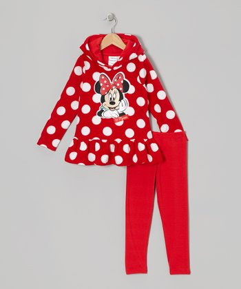 Red Polka Dot Minnie Hoodie & Pants - Infant
