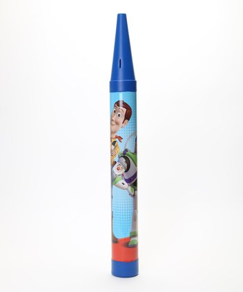 Blue Toy Story Crayon Coin Bank