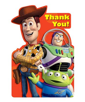 Toy Story Thank You Cards - Set of 16