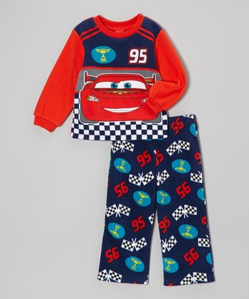 Red Cars Button-Up Pajama Set - Infant
