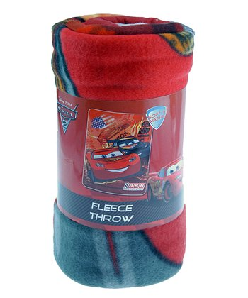 Red & Blue Cars Fleece Throw