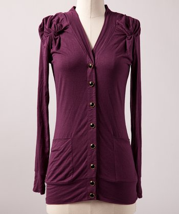 Plum Knot Alone Cardigan